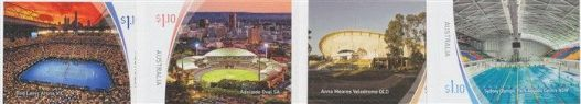 AUS 24/03/2020 Sports Stadiums (Series 2) self-adhesive set of 4 from booklets (exSB693-6)
